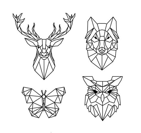 polygonal geometric animals  vector cdr