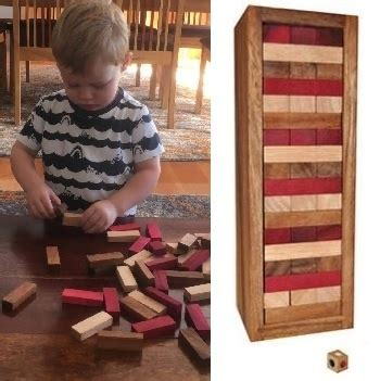 colour tumble tower  jenga  dice   box  australia