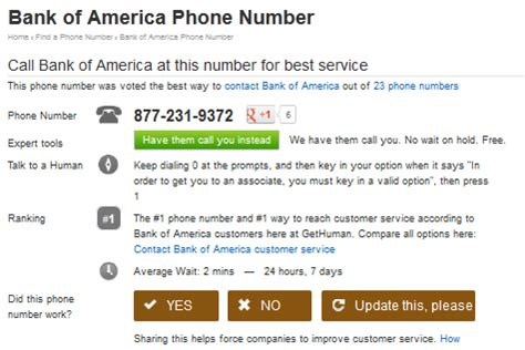 phone number for bank of america how to contact almost any major corporation computer tip