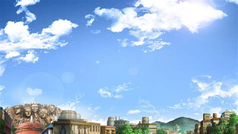 konoha village rooftops clouds anime hd wallpapers