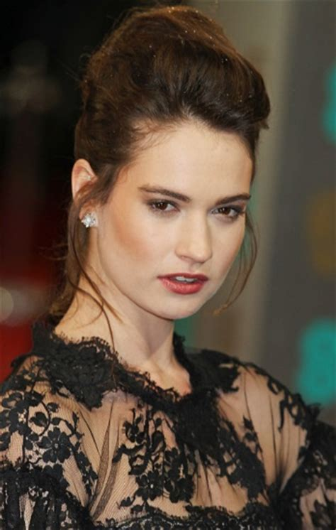 Hairstyles: Lily James? Formal Updo   Sophisticated ALLURE