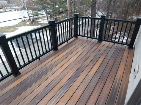 harmonious second floor deck composite decking and rail system for virtually a