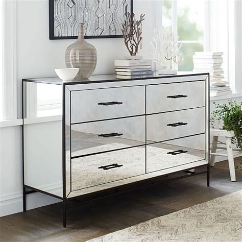 Kommode Spiegel by Mirrored Storage 6 Drawer Dresser Mirror Our New Home