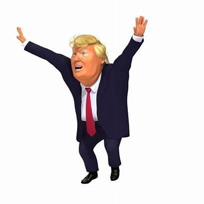 Trump 3d Jubilation Fortnite Cartoon Caricature Happy
