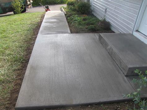 broom finished concrete driveway walkway sidewalk pool