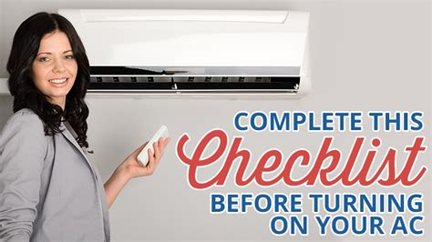 complete this checklist before turning on your ac metro comfort systems heating air conditioning