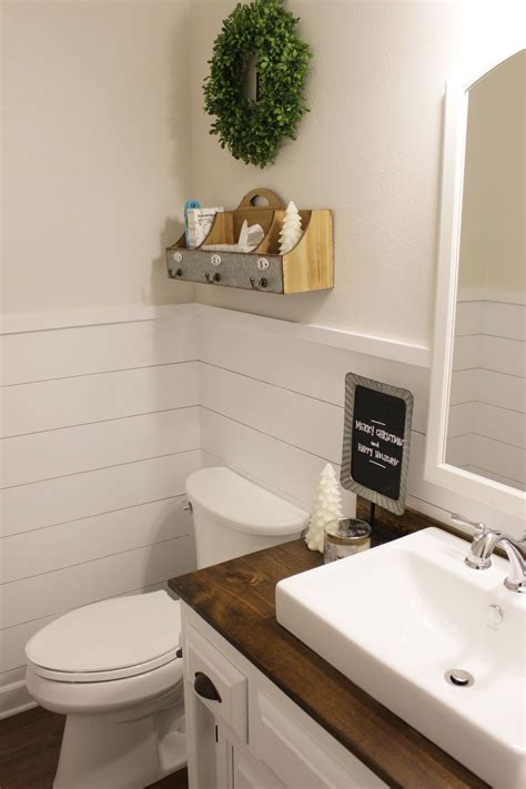 Shiplap Wainscoting by Shiplap Wainscoting In Our Half Bathroom What Karly Said