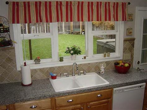 kitchen sink window ideas miscellaneous window treatment ideas for kitchen bay