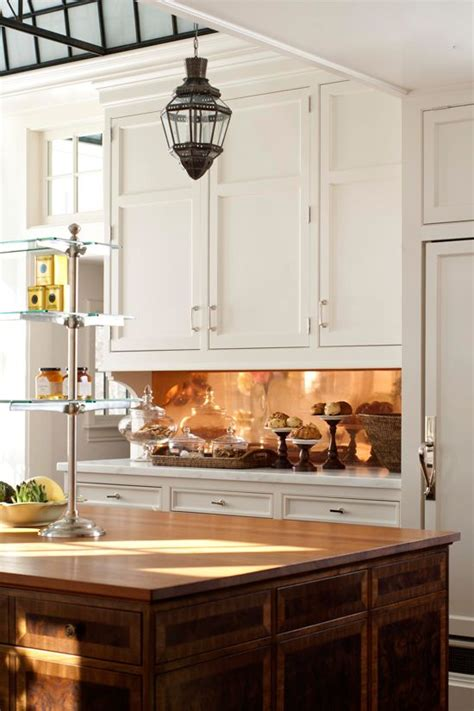 copper kitchen backsplash ideas 27 trendy and chic copper kitchen backsplashes digsdigs