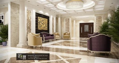 Kitchen Bath Ideas - تصميم صالة استقبال لإحدى الفيلات villa reception rehla me muhammad al najar