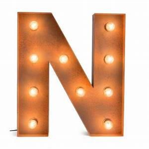 letter n with light bulb reallynicethings With lighted letter n