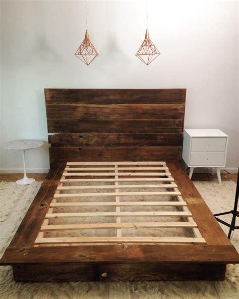 diy reclaimed wood platform bed   diy bed frame
