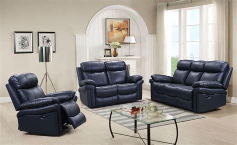 blue leather sofa living room shae joplin blue leather power reclining living room set