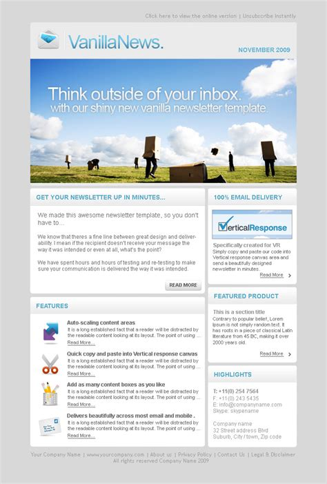 email marketing templates email newsletter templates word templates resume exles 09awpzxggm