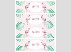 Water Bottle Label flamingo – forever3paperie