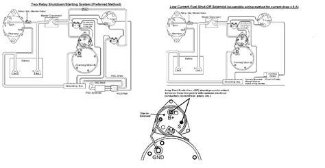 Basic Fuel Shutoff Solenoid Starter Wiring Information