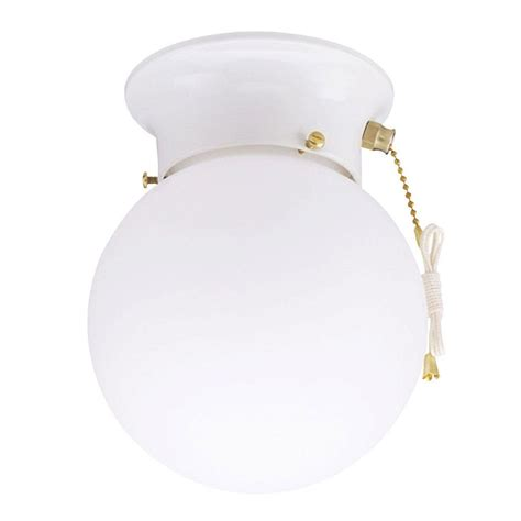 westinghouse 1 light ceiling fixture white interior flush