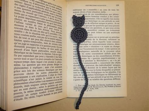 marque page original marque page original chat gris crochet 233 en coton marque pages par les fees papillons