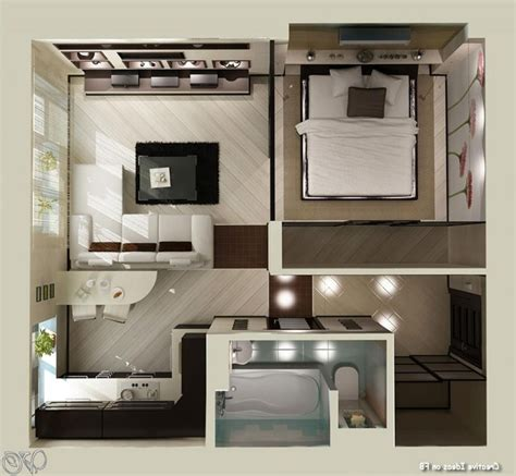 Studio Apartments For Couples by Small Apartment Plans On