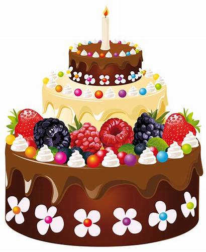Cake Birthday Clipart Candle Cakes Transparent Yopriceville