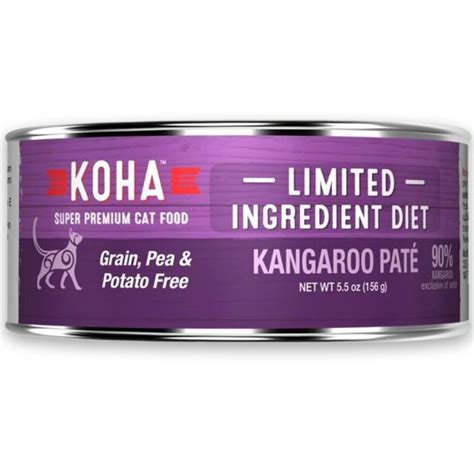 Koha Canned LID Kangaroo Pate for Cats - Feed Bag Pet Supply