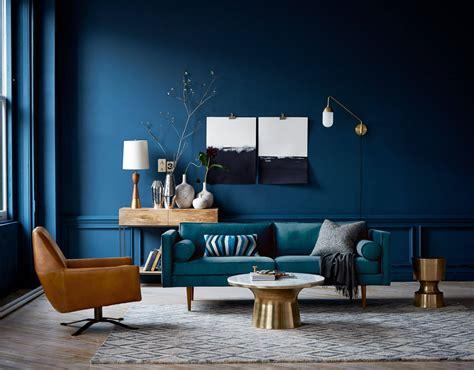 blue walls living room peenmedia com
