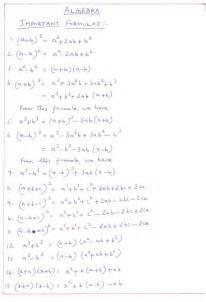 Important Basic Math Formulas
