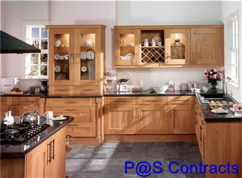 wooden cabinets for kitchen rustic oak shaker complete fitted kitchen cabinets ebay 1615
