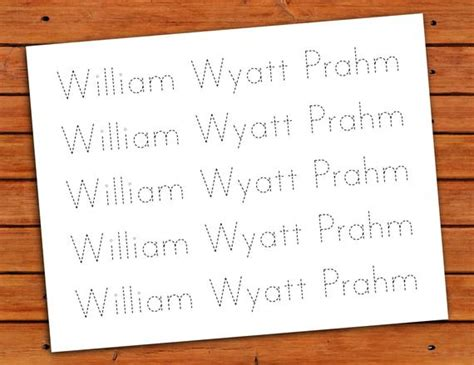 personalized print  trace worksheet  printable etsy