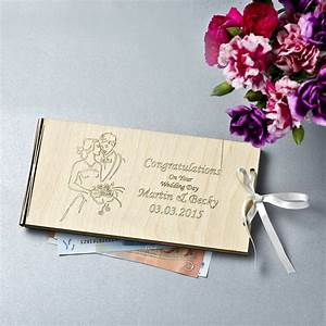personalised wooden money wedding gift envelopes by wooden With wedding gift website money