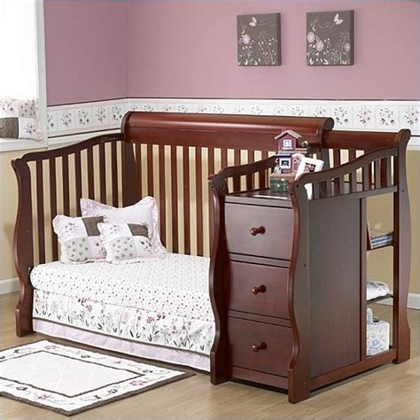 Crib Combos by Sorelle Tuscany 4 In 1 Convertible Crib And Changer Combo