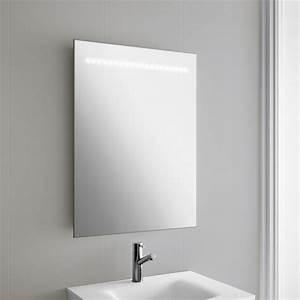 Miroir Lumineux Led : miroir lumineux led salle de bain 60x80 cm horizontal ~ Edinachiropracticcenter.com Idées de Décoration
