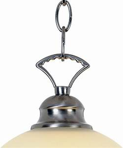 One light inch pendant fixture brushed nickel