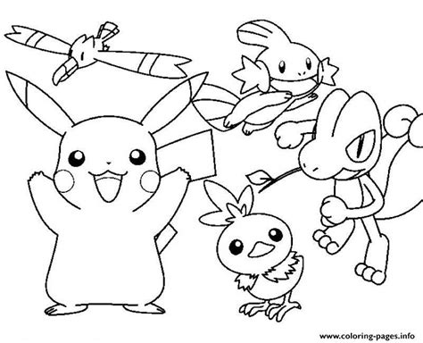 Pokemon Cartoon Pikachu Sdd34 Coloring Pages Printable