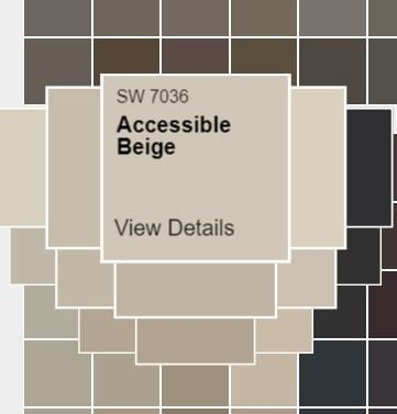 Kilim beige is one of the more popular beige paint colours these days. Sherwin Williams Accessible Beige SW 7036 - West Magnolia Charm
