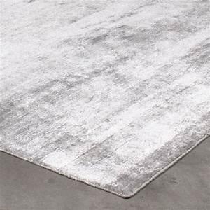 Grand tapis silky gris argente par angelo 200 x 300 cm for Grand tapis gris