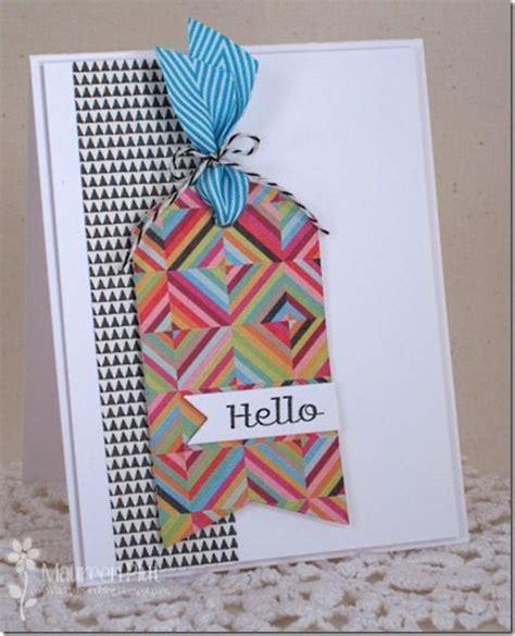 handmade card    cool tag optical illusion