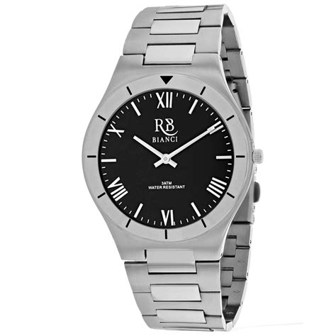Roberto Bianci Men's Eterno Black Dial Watch - RB0312 ...