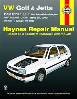 hayes car manuals 1989 volkswagen fox spare parts catalogs haynes repair manual for volkswagen golf gti jetta 1993 thru 1998 and volkswagen cabrio 1995