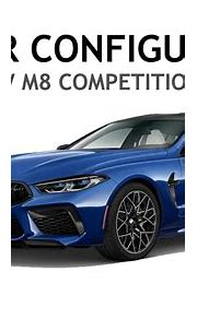 BMW M8 COMPETITION GRAN COUPE CAR CONFIGURATOR VIDEO - YouTube