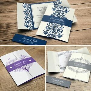 gatefold wedding invitations with belly band free