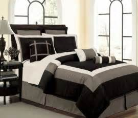 new black white gray faux silk comforter set twin full queen king cal k curtains ebay