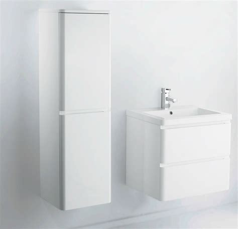 mm wall hung mdf white gloss bathroom vanity unit