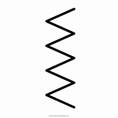 Zig Zag Lines Coloring Template Pages