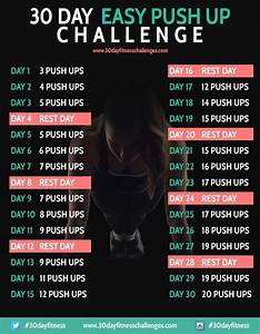 30 Day Easy Push Up Challenge | Charts, 30 day fitness and ...