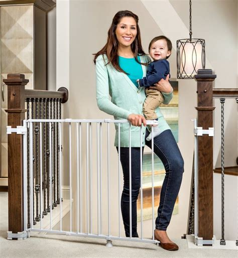 Baby Gate For Top Of Stairs With Banister And Wall by The Regalo Dual Banister Baby Gates For Stairshousehold