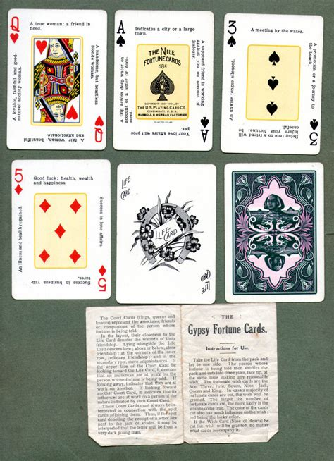 Vintage Fortune Telling Playing Cards Gypsy Bijou Fortune