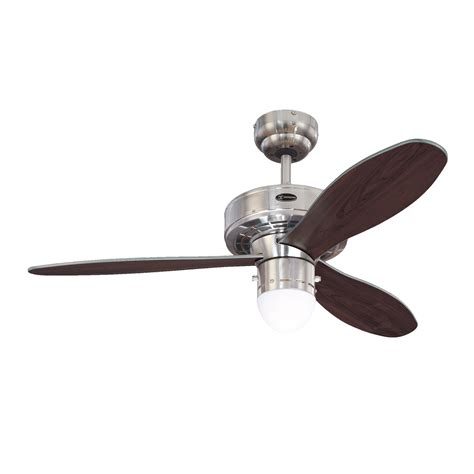 westinghouse airplane ii brushed nickel ceiling fan with