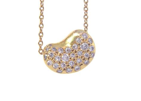 Tiffany's Elsa Peretti 18k Bean Necklace W/diamonds At 1stdibs Nose Piercing Jewelry Hot Topic Cameo Wholesale Cost Information Ring Bar Halloween Mother Daughter Charm Bracelets For Sale Forward Helix