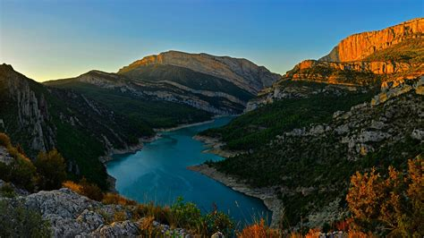 congost river mountain range spain wallpapers hd